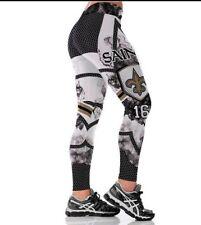 New Orleans Saints L/XL (8/10-12) Leggings #16 Coleman Football NOLA Who Dat