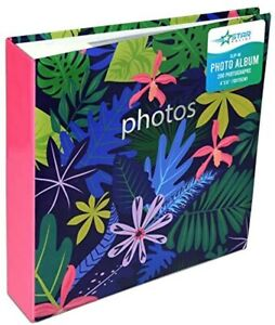 Large Memories Memo Slip In Photo Album 200 6 x 4 Photos-Floral