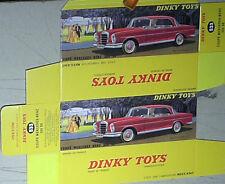 REPLIQUE  BOITE  MERCEDES coupé 300SE  DINKY TOYS 1963