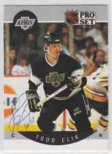 Autographed 90/91 Pro Set Todd Elik - Kings