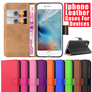 Leather Wallet Phone Case Cover Stand for iPhone 5/6 7/7+ 8/8+ / x / xs / xs max