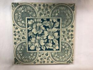 Blue Floral Art Tile Antique Tiles For Sale Ebay