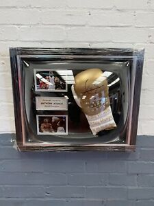 Signed Boxing Anthony Joshua Framed Boxing Glove Memorabilia With COA