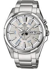 Casio Edifice Silver Strap Wristwatches