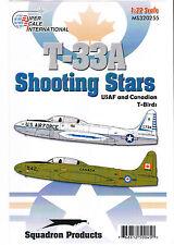 1/32  T-33 Super Scale US & Canada Aircraft Insignia Decal  Monogram Hasegawa