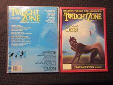 1982/83 Rod Serling Twilight Zone Magazine Lot of 2 Jan Fvf Aug Fn+ Lovecraft