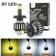 2PCS H7 6-Sides COB High Low Beam LED Headlight Car Light Bulbs 120W 12000LM