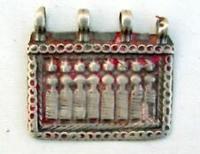 ANTIQUE TRIBAL OLD SILVER HINDU GOODESS AMULET PENDANT