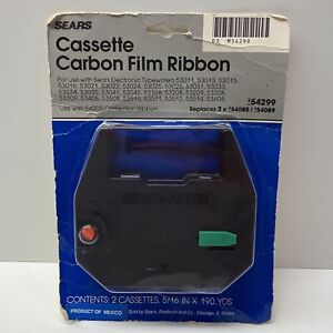 Sears Cassette Carbon Film Ribbon Replaces 54085 / 54089, Pack Of 2, NOS