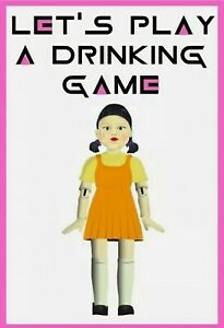 Squid Game Drinking Game Bottle Label For Shots Etc Halloween Birthday Party