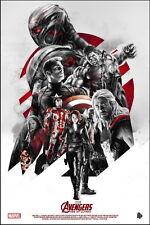 "008 Age of Ultron - Iron Man Captain America Hulk Movie 24""x36"" Poster"