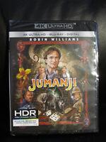 Jumanji 4K UHD Blu-Ray Digital HD New Sealed Region Free Robin Williams Kids