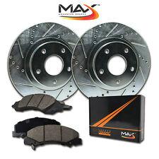 2004 2005 2006 2007 2008 2009 BMW X3 Silver Slot Drill Rotor w/Ceramic Pad F