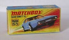 Repro box MATCHBOX superfast Nº 65 saab sonett III