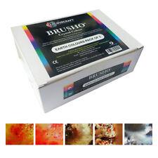 Brusho Crystal Colour Watercolour Pigment Powder Paint Set of 5 EARTH COLOURS