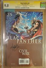 Black Panther #25 CGC SS 9.8 Signed Michael Turner Storm & Thor cover