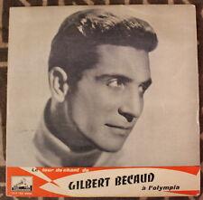 1955 ✤ GILBERT BÉCAUD ✤ à l'Olympia ✤ FDLP 1032 Médium