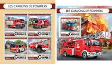 Fire Engines Trucks Transport Mercedes-Benz Firefighters Guinea MNH stamp set