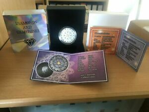 5 Cedis Ghana 2020 - 1 OZ Mandala Diamant  I Flora 2020 - mit 21 Diamanten