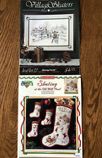 Christmas Or Winter Counted Cross Stitch ICE SKATING Charts~Stoney Creek, Etc.