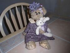 Bearington Collection Bears SUZY & SNOOZY Jointed Plush Doll #1527 Retired 2005