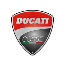 DUCATI CORSE Reklame Blechschild Metallschild Schild Metal Sign NEU !!