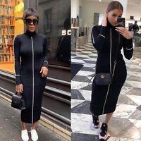ZARA BNWT BLACK RIBBED DRESS Size L