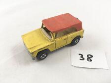 VINTAGE MATCHBOX LESNEY # 18E FIELD CAR JEEP DIECAST YELLOW SUPERFAST 1971-74