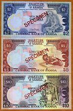 Specimen Set, Samoa, 2;5;10;20;50;100 Tala, ND (1985-2006), UNC