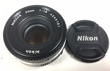Nikon Nikkor 50mm f1.8 AI-S pancake lens Ex+++ condition