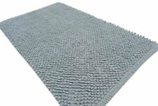Grey Bath Rugs (set of 2 ) popcorn collection (ANTI SKID LAT...