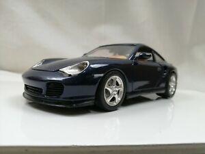 Burago 1/18 1999 PORSCHE 996 TURBO Blue German sports car replica model