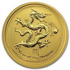 Australia $25 Lunar Series II Dragon 2012 1/4 oz .9999 Gold Coin