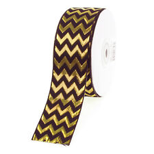 Metallic Chevron Ribbon, 1-1/2-Inch, 25 Yards