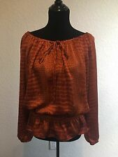 MICHAEL Michael Kors Long Sleeve Top, Size L