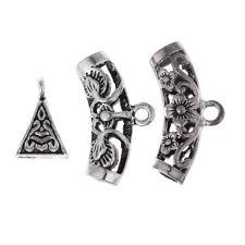 40 Pcs Mixed Tibetan Silver Bail Tube Bead,Spacer Bead,Bail bead Connectors