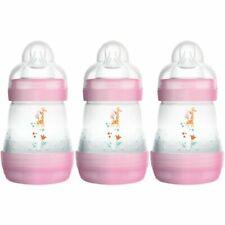 MAM Easy Start Anti-Colic Self-Sterilising Bottle for Newborn - Pink, 160ml, Pack of 3