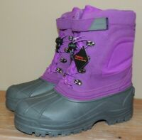 NEW GIRLS WOMENS LANDS END EXPEDITION SNOW BOOTS YOUTH 7 EU 39 8/8.5 PURPLE $79