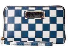 "NEW Marc By Marc Jacobs Q Checkerboard ""Wingman"" Wristlet Wallet Deep Blue Multi"