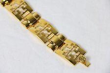 Tory Burch bracelet metal gold logo link pyramid