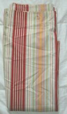 Pottery Barn Striped Shower Curtain Cotton White Red Orange Pink Blue Green