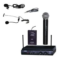 Audio2000'S  AWM6032UR UK UQ UHF Dual Wireless Microphone System CHOOSE COMBO-MR