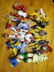 Vintage Large Digimon Figures 11 Lot for Parts Repair or Customizing digivolving