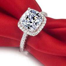 3.3ct Hot Sale Square CZ Engagement Wedding Ring 925 Sterling Silver Size 7