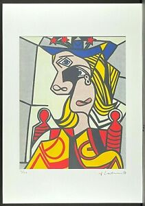 ROY LICHTENSTEIN * Woman with flowered Hat * signed lithograph*limited # 12/150