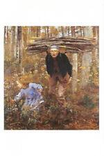 Postcard Jules Bastien-Lepage Woodgatherer Milwaukee Art Museum WI MINT