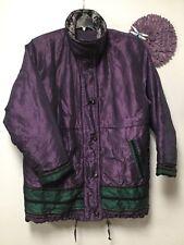 Ladies stylish jacket coat sz large purple green black RN 1510 Current Seen 171