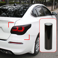 Car Headlight Taillight Lamp Film Light Dark Black 100cmx30cm tail light Vinyl C