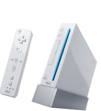 Nintendo wii console blanche