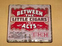 VINTAGE TOBACCO BETWEEN THE ACTS LITTLE CIGARS TIN CAN BOX